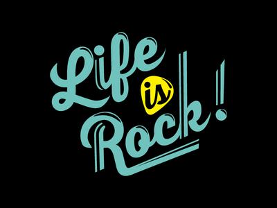 Life is Rock 2016 Logo sticker music rock lifeistech logo