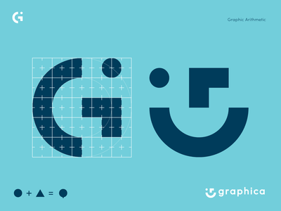 Graphica Logo Renewal geometric illustrator logo