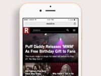 Revolt.tv Mobile Layout