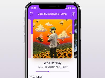 Dubolt Mobile Trackflow visual design mobile ui ios app music