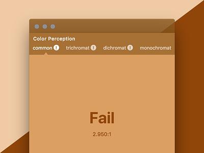 Colorific Fail Warnings design tool tools accessibility color electron mac app desktop warning ux ui