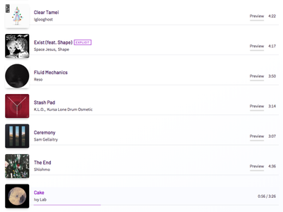 Updated tracklist web app tracklist spotify music interaction ui app