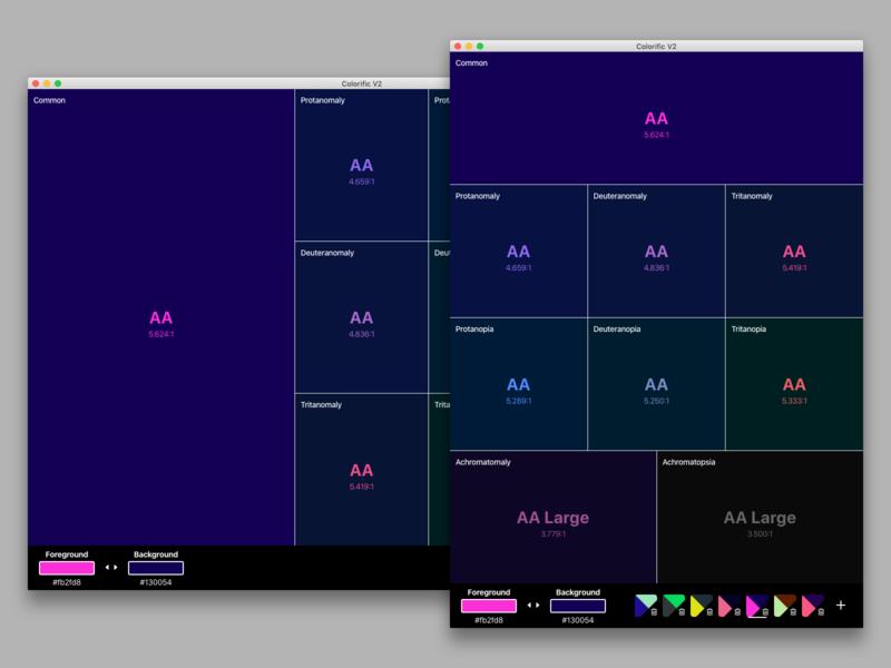 colorific v2 app ui web application development web application design web application web app ui design tool accessibility color