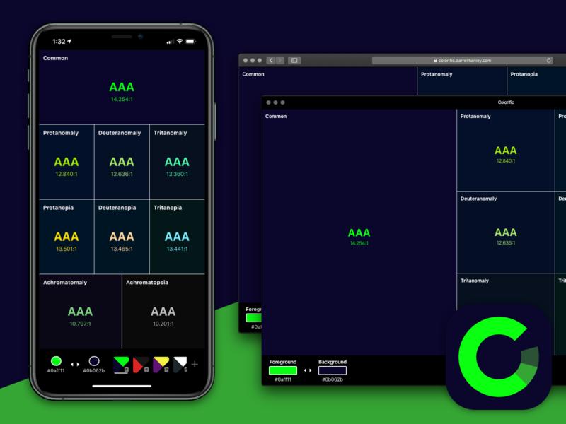 Colorific Launched web development responsive design responsive progressive web app web app visual design ui app app ui