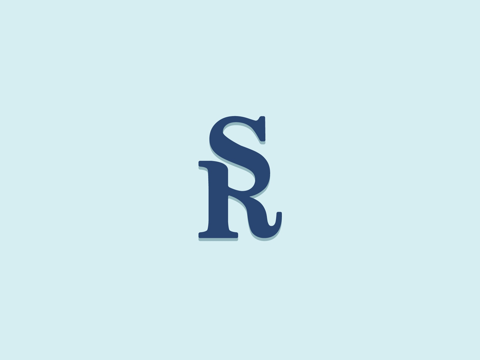 Sr Monogram By Billy Metcalfe On Dribbble