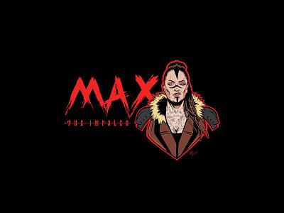 Max The Impaler sticker wrestling