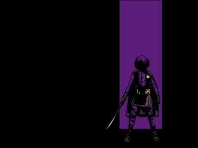 Hit-Girl  super hero illustration hit-girl kick ass