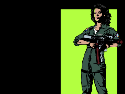 Lt. Ellen Ripley illustration alien ripley ellen ripley