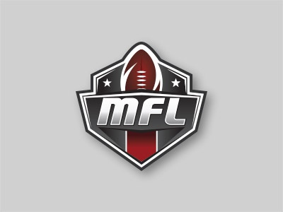 Montreal Flag Football ball stars football sports logo