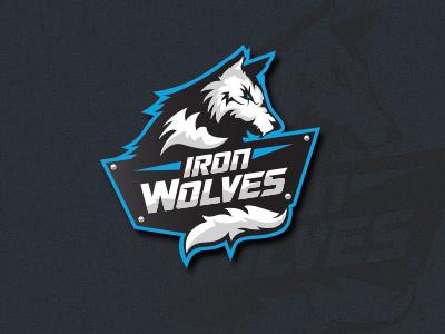 Iron Wolves logo wolf wolves football sports logo