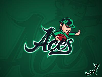 Sud Ouest Aces a irish football sports logo
