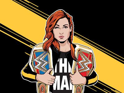 Becky Two Belts wwe wrestling woman champion becky lynch