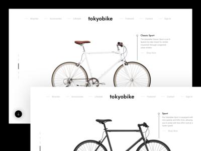 Tokyo Bike Website Redesign web design shop design clean web ui minimal ui web redesign webdesign product minimal clean design website redesign