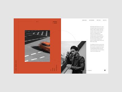 Personal Portfolio Homepage editorial design editorial layout website web ui ux minimal