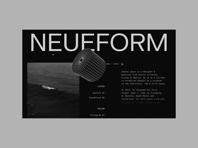 neueform website editorial web editorial design website ux ui web design minimal