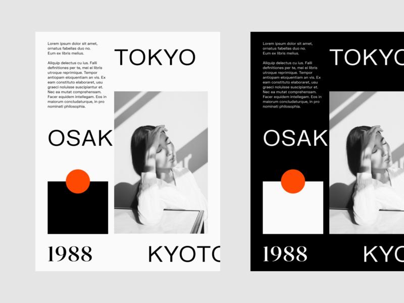 Tokyo, Osaka, Kyoto Poster poster design poster editorial layout editorial design clean minimal