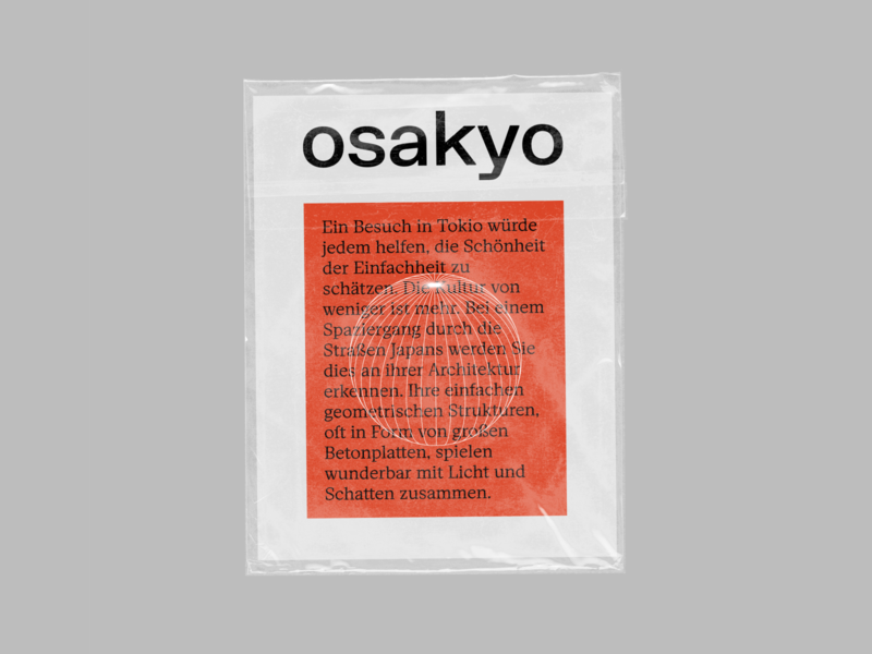 osakyo cover illustration type design minimalism japan berlin poster typedesign cover art