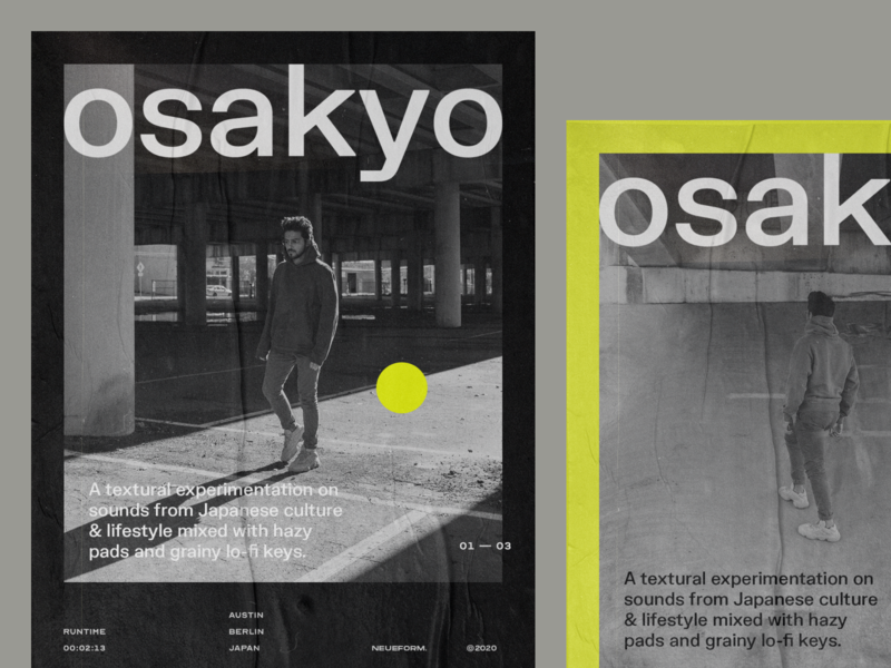 osakyo poster concepts graphic design type typography poster design poster sanserif