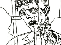 Zombie Sketch for a painting