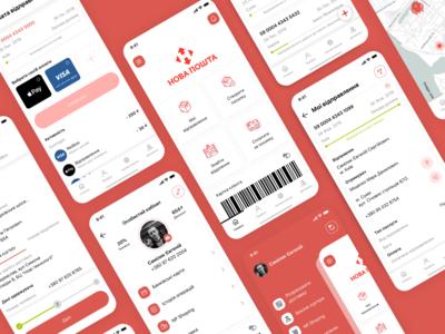 Nova Poshta mobile app redesign