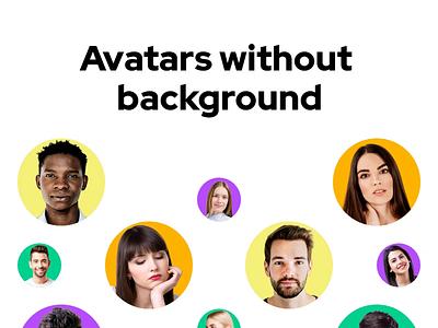 Avatars without background xd figma avatar avatars photos faces face photo