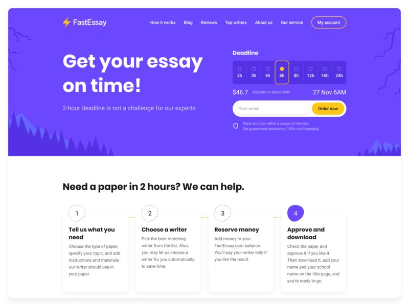 Landing page education design college university study student essay landing page web figma