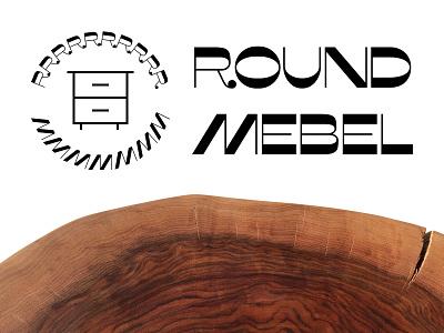Round Mebel logotype figma logotype logo