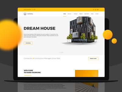 Hardworking wordpress template landing page wp building work build company