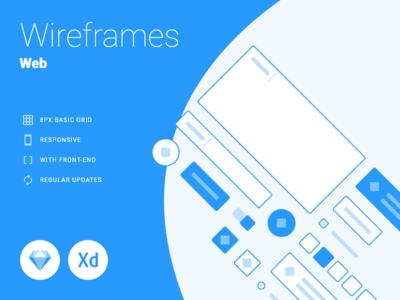 Web - Wireframes responsive sketch xd guide schemes wireframing wireframes