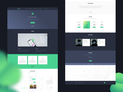 Clover - Mobile App Landing style guides manual guide document specific style sheet brand xd sketch
