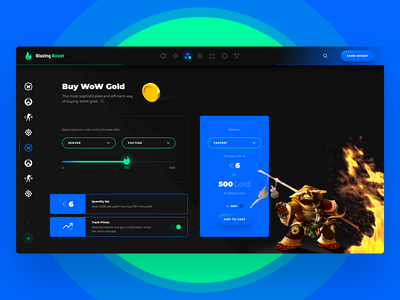 Blazing Boost 🔥 panel center world of warcraft gold wow web app game application