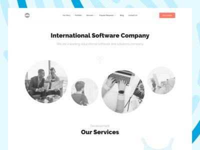 Company team software landing page development company
