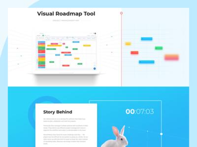 Visual Roadmap Tool work web visual tool roadmap project management landing page app