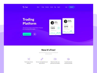 Tradi web trading platform application xd app