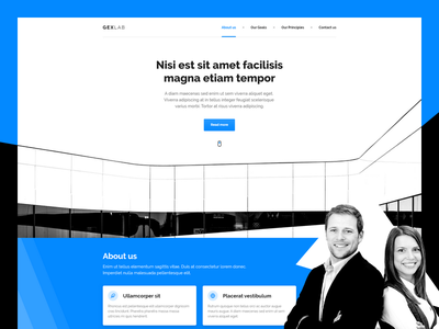 GexLab web agency organization enterprise firm office company corporate business landing page xd