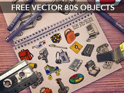 80s vector objects FREE DOWNLOAD!