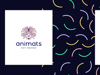 Animats logos dog pets typography illustration vector animals logo branding logotype animals illustrated animals logodesign logo design logo