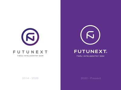 Futunext logo redesign identity mark new logodesign logotype simple logo simple illustrator sign lifting redesign smarthome vector typography branding logo