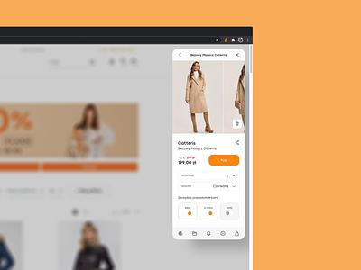 Spyanyshop - google chrome extension e-commerce fashion chrome extension chrome experience design ux ui