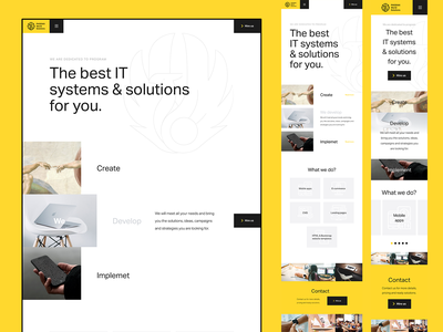 Phoenix World Solutions desktop design whitespace yellow clear design white mobile intro concept hero typography homepage experience web clean website ux design ui