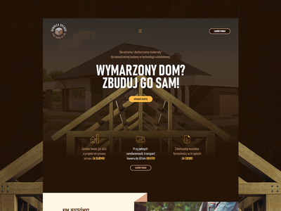Piece of wood wood brown house real estate realestate experience illustration design web intro hero typography homepage logo ux ui website