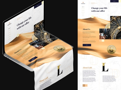 GoldBank intro typography homepage experience web clean website design ux ui