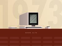 Xerox Alto Computer Illustration