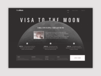 Landing page about moon trips.
