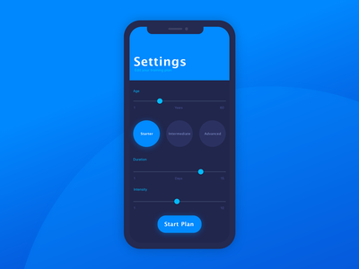 Daily UI Challenge 07 - Settings