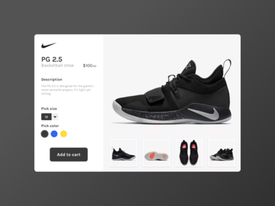 Daily UI Challenge 12 - E-Commerce Shop