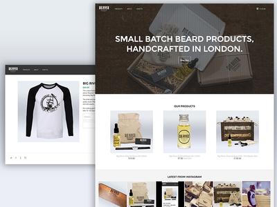 Big River Online Store big river beards mens clothing fashion oil beard shop ecommerce website