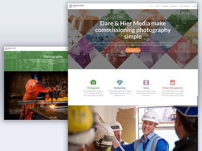 Dare & Hier Photography Website Design dare  hier retouching design website photography