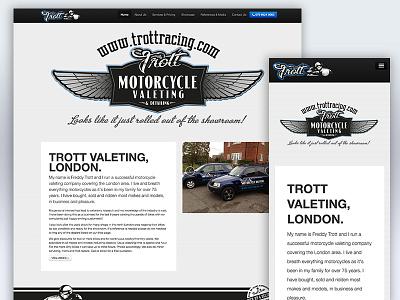 Trott Motorcycle Valeting Website valeting responsive website americana motorcycle