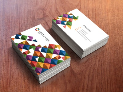 Dare & Hier Business Cards cards business dare  hier retouching design branding photography